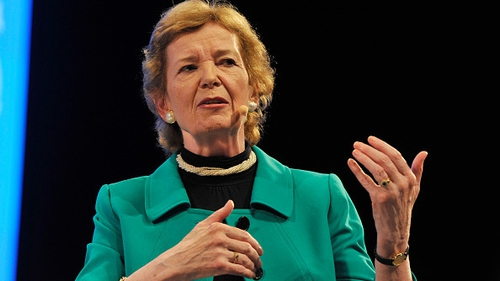 Former president Mary Robinson said a hard border could result in a return to violence