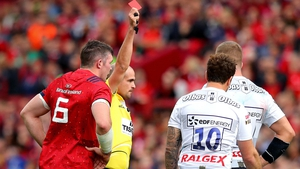 Danny Cipriani was shown a red card against Munster