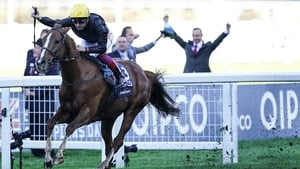 Frankie Dettori was victorious on Stradivarius for a fourth time this year