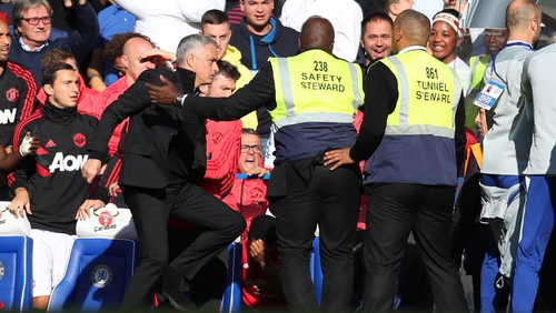 Jose Mourinho had to be restrained following Marco Ianni's celebrations