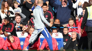 Marco Ianni (C) goaded the United bench after Chelsea's equaliser