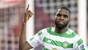 Celtic's French striker Odsonne Edouard struck twice