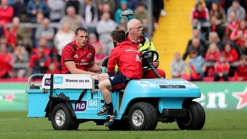 Tommy O'Donnell is believed to have suffered a broken leg in Munster's win over Gloucester