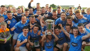 Newtown Blues celebrate with the cup. Pic: @LouthGAA