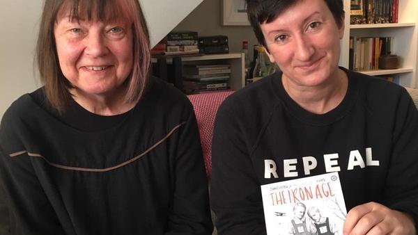 Iron Age author Arja Kajermo, with Tramp Press publisher Sarah Davis Goff