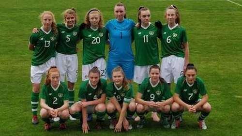 The Ireland Under-17s before kick-off