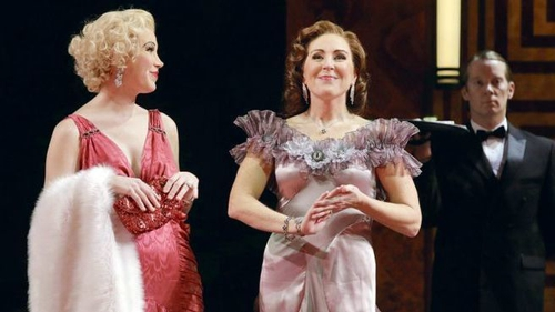 Susannah Billar and Mary Dunleavy in Dinner At Eight