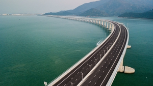 Lantau island is home to a new mega bridge launched last year