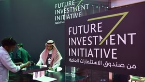 The three-day investment conference is being held amid tight security at Riyadh's Ritz-Carlton hotel