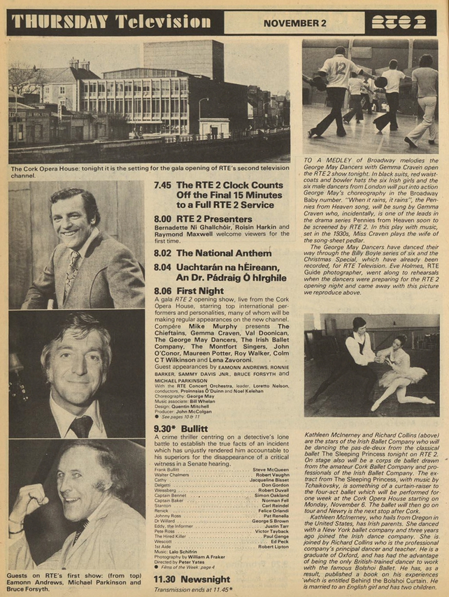 RTÉ Guide 27 October 1978 RTÉ 2 Listings for 2 November