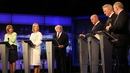 Peter Casey, Gavin Duffy, Joan Freeman, Seán Gallagher, President Michael D Higgins and Liadh Ní Riada were debating tonight