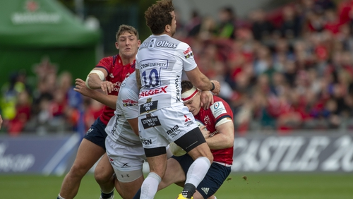 The Gloucester out-half was sent off for the high challenge on Rory Scannell during the tie
