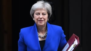 Theresa May said she would never allow a divide between the Northern Ireland and Britain 'to come into force'