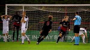 Casper Tengstedt celebrates his goal
