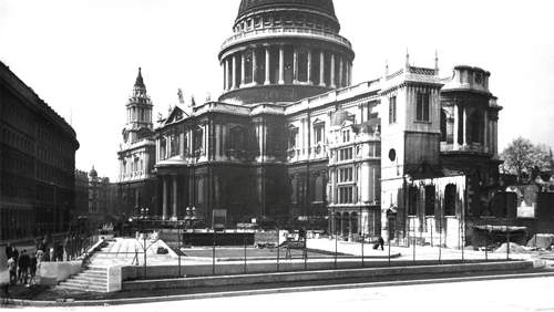 St. Paul's Cathedral in London in 1951. Photo: National Archives/ SSPL/Getty Images