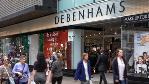 Debenhams shares were down as much as 59% in London trade today
