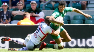 Robert Baloucoune, pictured playing for the Ireland 7s, makes his Ulster bow on Friday