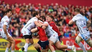 Gloucester's Danny Cipriani was shown a red card for a high tackle on Munster's Rory Scannell