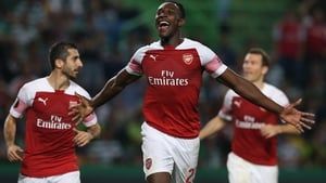 Danny Welbeck celebrates what proved to be the winning goal