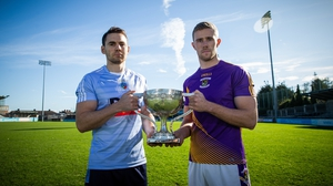 St Jude's Chris Guckian and Paul Mannion of Kilmacud Crokes will face each other in the Dublin SFC final on Monday