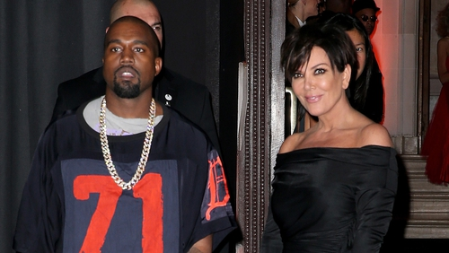 Kanye West pictured with ex-mother-in-law Kris Jenner