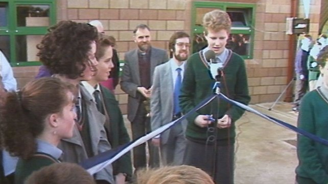 Official opening of Gaelscoil Inse Chór (1988)