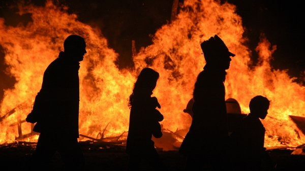 """""""No wonder the subsequent lighting of the great Samhain fire held much significance returning warmth and light once more while keeping the forces of death at bay for another year."""" Photo: Shay Murphy/Getty Images"""