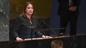 Head of UN General Assembly María Fernanda Espinosa Garcés announced the four winners which included Front Line Defenders
