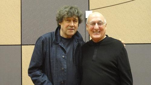 Stephen Rea with James's Story author David Zane Mairowitz
