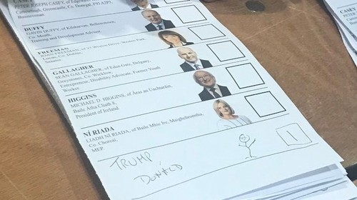 US President Donald Trump was named on at least two ballot papers