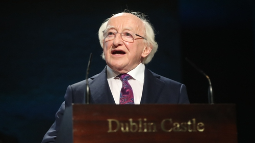 Michael D Higgins said he was conscious people may want to participate in the WWI commemorations