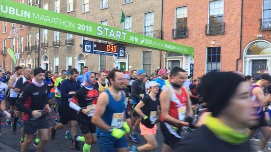 20,000 runners take part in Dublin City Marathon