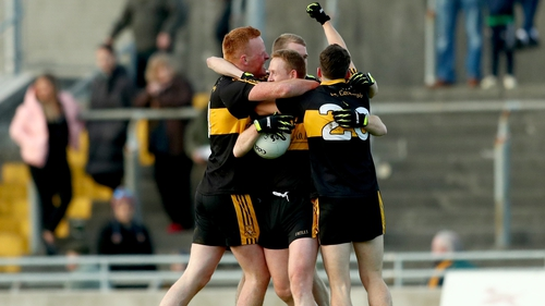 Dr Crokes players celebrate, including Kerry great Colm Cooper