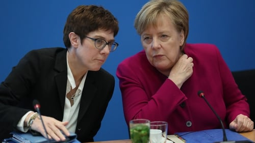 Annegret Kramp Karrenbauer is one of the candidates to replace Angela Merkel as party leader