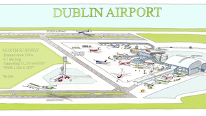 The contract is for the design and construction of the new 3.1 km rorth runway at Dublin Airport