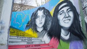 A mural in Rome commemorates Emanuela Orlandi and Mirella Gregori