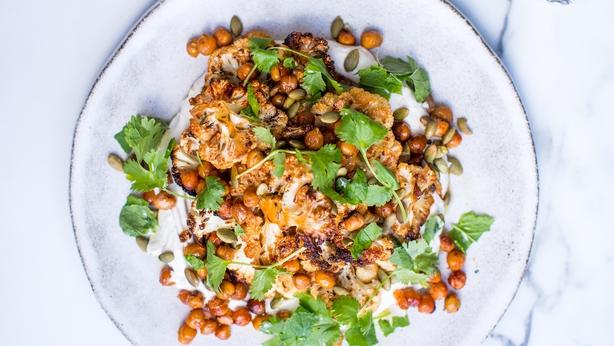 Donal's Roast Cauliflower Platter & Tahini Yoghurt