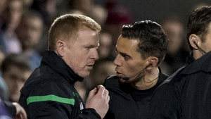 Neil Lennon was hit in the face by a pound coin