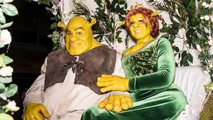 Model Heidi Klum and Tom Kaulitz as Shrek and Princess Fiona