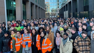 Staff in Dublin took part in the protests last week