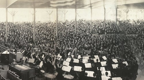 Thousands throng the specially built venue for the Peace Jubilee Boston 1869