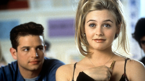 Justin Walker and Alicia Silverstone in a scene from the film 'Clueless', 1995. (Photo by Paramount Pictures Getty Images)
