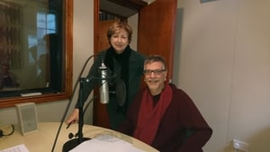 Poetry Programme host Olivia O'Leary with Don Share
