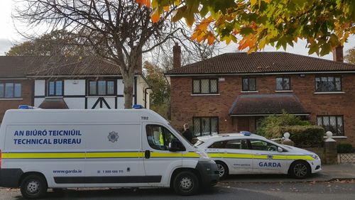 The scene at Tudor Lawns has been preserved for a forensic examination