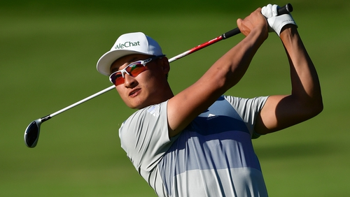 Li Haotong had six birdies and an eagle
