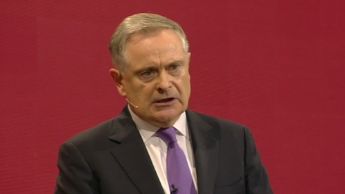 Brendan Howlin addressing the Labour Party conference