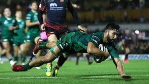 Colby Fainga'a scores his first Connacht try