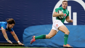 Jordan Larmour was in unstoppable form