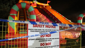 A 'major incident' was declared after a number of children fell from the giant inflatable slide