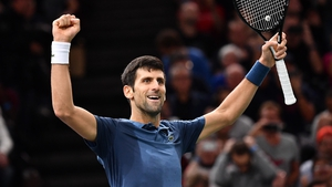 Djokovic is seeking a record-extending fifth Paris Masters title